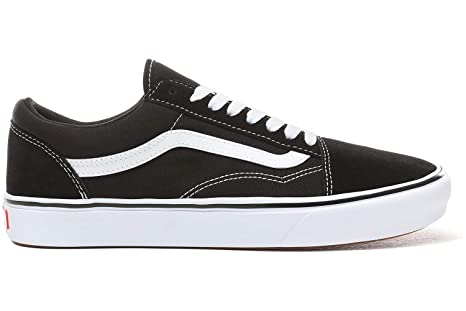 dab41b5d86 Image Unavailable. Image not available for. Color  Vans Comfycush Old Skool  Black White ...