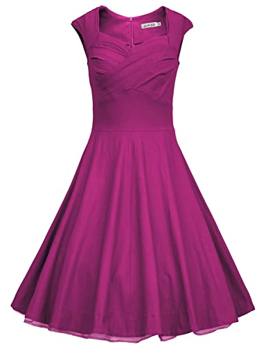 JUESE Women's 50s 60s Vintage Cocktail Rockabilly Party Swing Dress