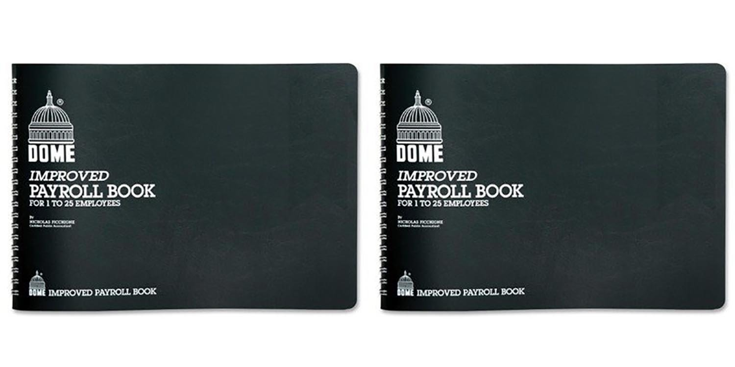 Set of 2 Dome Simplified Payroll Record Bundled by Maven Gifts