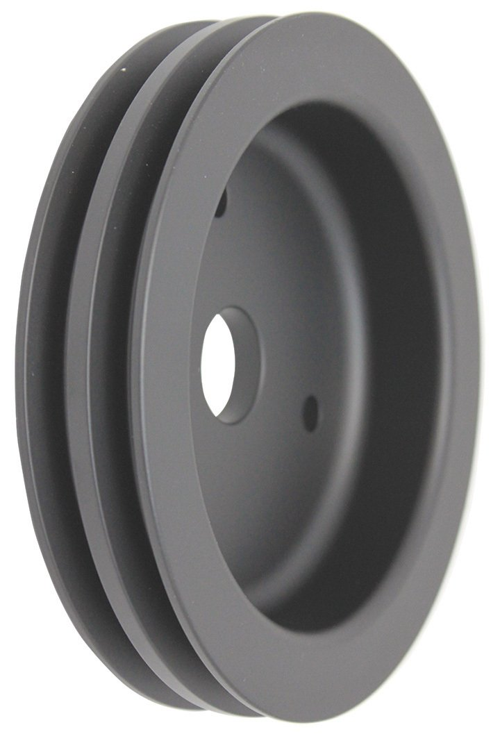 Pirate Mfg BBC Chevy 396-454 Black Aluminum Swp Double Groove Crankshaft Pulley