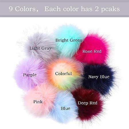 Amazon.com: Nesee 18 piezas de pelo de zorro esponjoso ...
