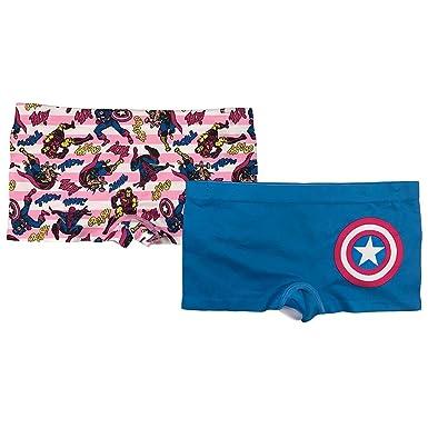 2096b63c13 Amazon.com: Marvel Girls' Big 2-Pack Seamless Boyshort: Clothing