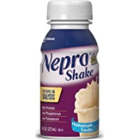 Nepro Therapeutic Nutrition Shake with 19 grams of protein, Nutrition for people on Dialysis, Vanilla, 8 fl ounces, (Pack of 16)