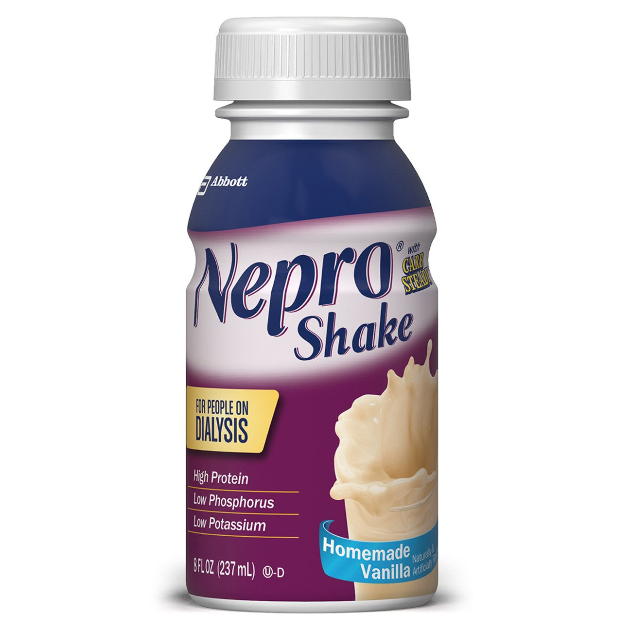Nepro Therapeutic Nutrition Shake with 19 grams of protein, Nutrition for people on Dialysis, Vanilla, 8 fl ounces, (Pack of 16) by Nepro
