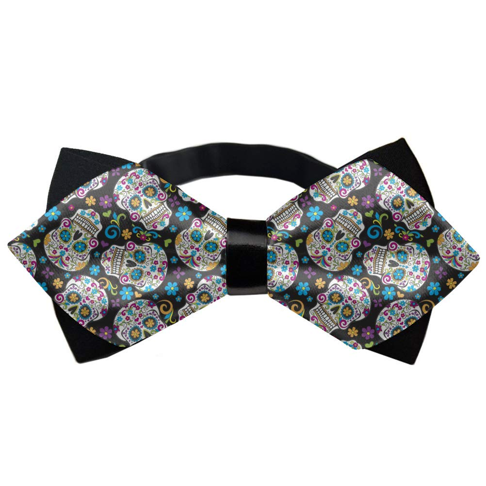 Mens Novelty Diamond Pointed Pre-tied Bow Ties Funny Watermelon Shark Mint Green