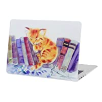 HDE Case for MacBook Air 13 Case Slim Hard Shell Rubberized See Through Matte Plastic Snap On Case Fits Models A1369 / A1466 (Sleeping Cat)