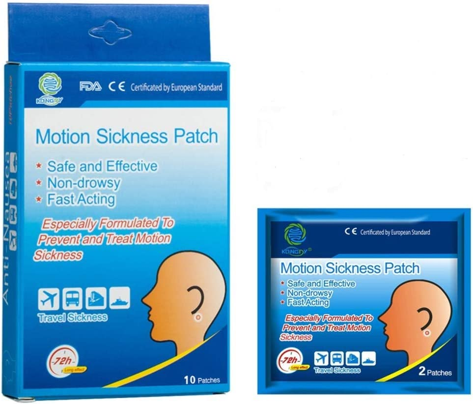 Amazon.com: KONGDY 10 Counts Motion Sickness Patches for Cruise Kids,  Natural Sea Sickness Patch Behind Ear, Anti Nausea Patches with Non Drowsy  and Waterproof: Health & Personal Care