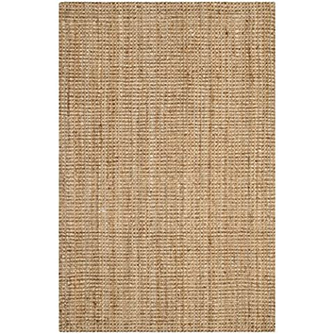 Safavieh Natural Fiber Collection NF747A Hand Woven Natural Jute Area Rug (2' x 3') (Cotton Area Rugs 2x3)