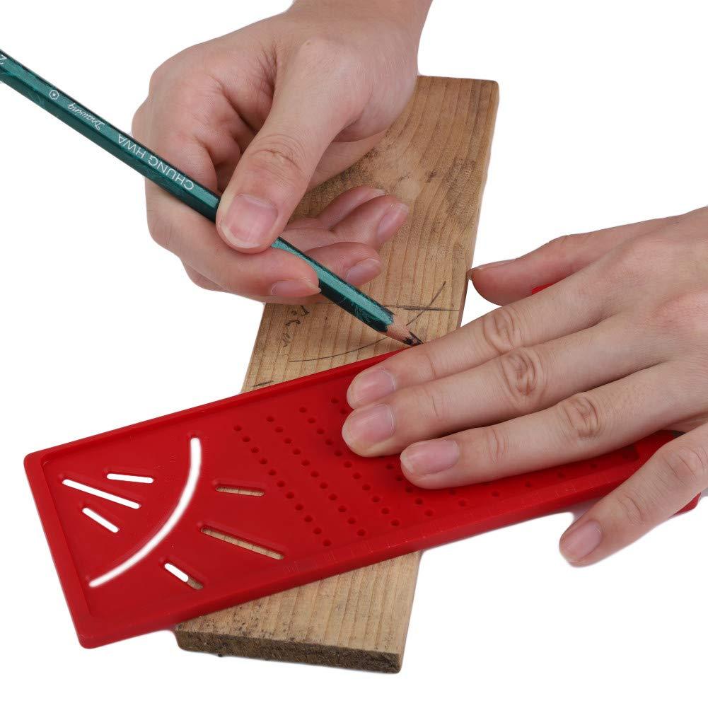 Bebliss Plastic Precision Woodworking Scribe Mark Line Gauge T-type Cross-out Gobernante Medidor de regla de medici/ón 3D Carpinter/ía DIY