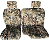60 40 split camo seat covers - A57 Toyota Pickup 1990 - 1995 Front 60/40 Split Bench Seat Covers - Premium Triple Stitched with 10mm Thick Custom Made for Exact Fit (Muddy Water Camo)