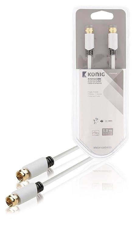 König KNS41000W50 - Cable coaxial (F, F, Cobre)