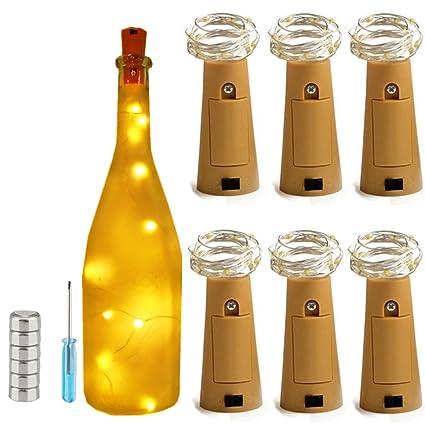 wine bottle lighting. Wonderful Wine 6 Pack Warm White 20 LED Wine Bottle LightsBright Copper String Starry  Cork Lights Inside Lighting