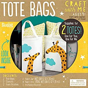Imagine by Bendon Craft With Me Tote Bags Craft Kit (89705)