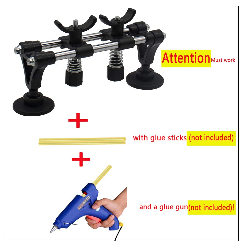 Dent Repair Tool Kit 19PCS Dent Puller Remover Paintless Tirabolli per Carrozzeria Auto WANYIG Kit di Riparazione per ammaccature