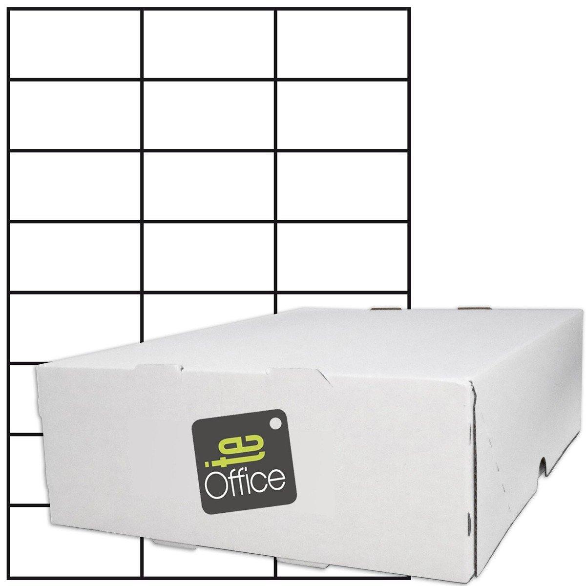 24000 Etiketten A4 Bogen 70 x 37 mm selbstklebend 1000 Blatt weiß Papier