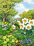Cheap Caroline's Treasures ASAD778CHF Spring Flowers by Sarah Adams Canvas House Flag, Large, Multicolor