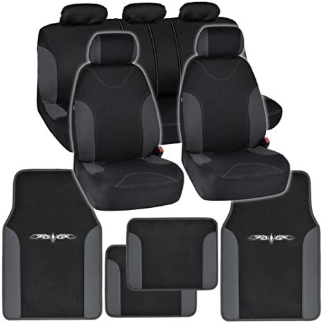 Magnificent Bdkinstaseat Car Seat Covers Floor Mats Black Charcoal Trim Neocloth Carpet W Vinyl Trim Caraccident5 Cool Chair Designs And Ideas Caraccident5Info