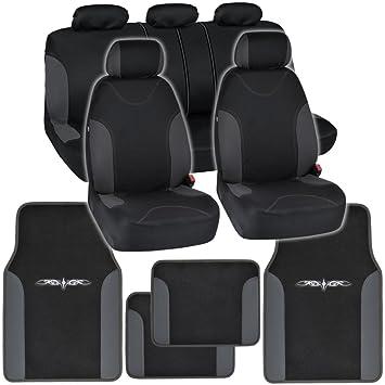 InstaSeat Car Seat Covers Floor Mats Black Charcoal Trim NeoCloth Carpet