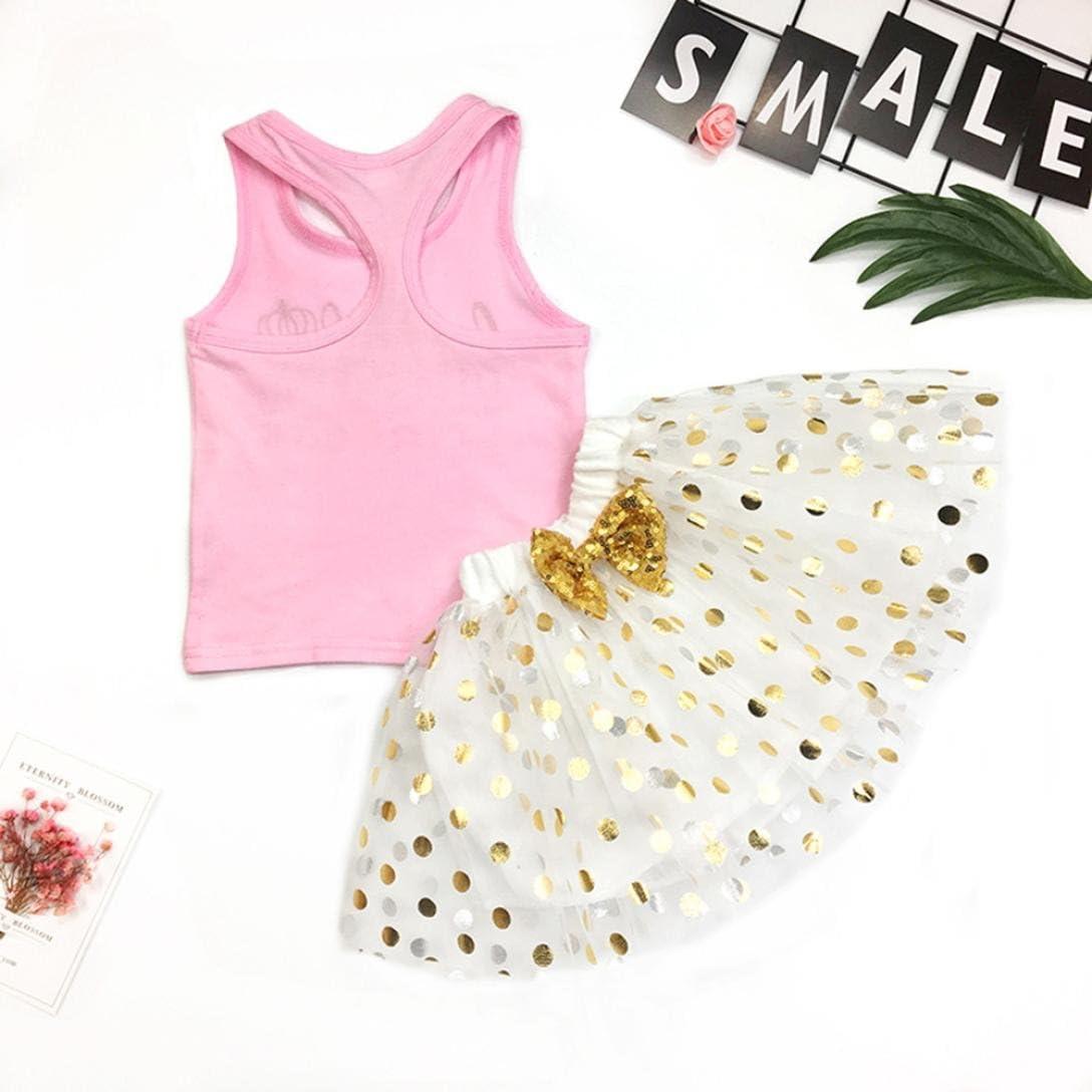 4 A/ños ❤️ Amlaiworld Bebe Ni/ña Camiseta Sin mangas y Pantalones cortos Florales Verano Conjunto de Ropa 12 Mes Amarillo, Tama/ño:3 A/ños