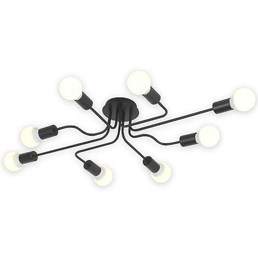 Amazon.com: VINLUZ Sputnik Lámpara de araña de 6 luces ...