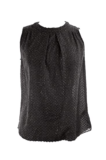 392b78c8fe4d2 Image Unavailable. Image not available for. Color  Michael Michael Kors  Women s Textured Pleated Blouse ...