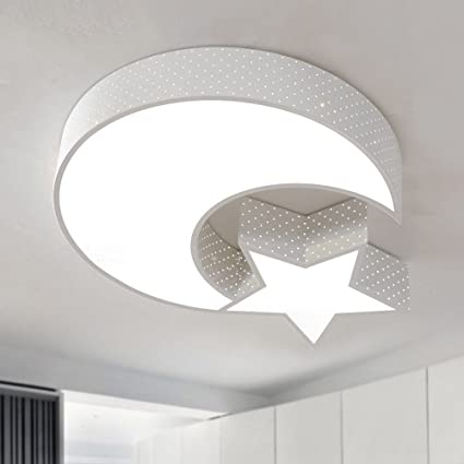 Ceiling light TOYM- Moderno Minimalista Blanco Estrella Luna ...