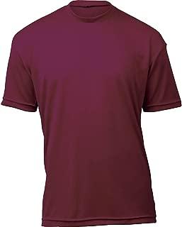 product image for WSI Microtech Loose Short Sleeve Shirt, Maroon, Medium