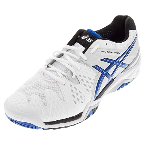 696a71fbcc7 ASICS-Men`s Gel-Resolution 6 Wide Tennis Shoes White and Blue ...