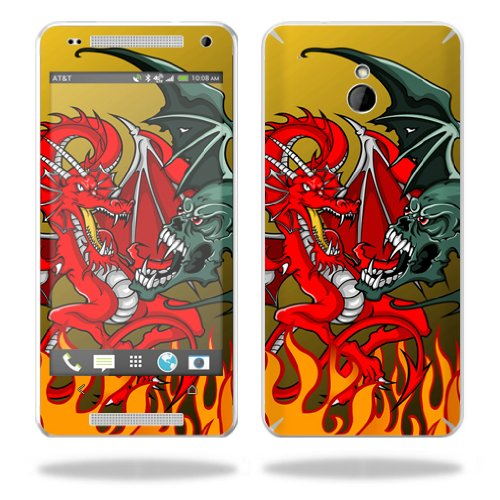 Mightyskins Protective Vinyl Skin Decal Cover for HTC One Mini M4 wrap sticker skins Dragon Breath