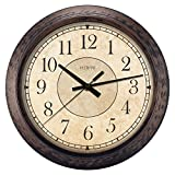 Lacrosse 404-2635 Analog Wall Clock, 14'', Rustic Brown
