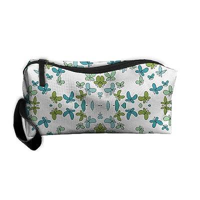 Happy Butterflies Travel Kit Organizer Bathroom Storage Cosmetic Bag Carry Case Toiletry Bag