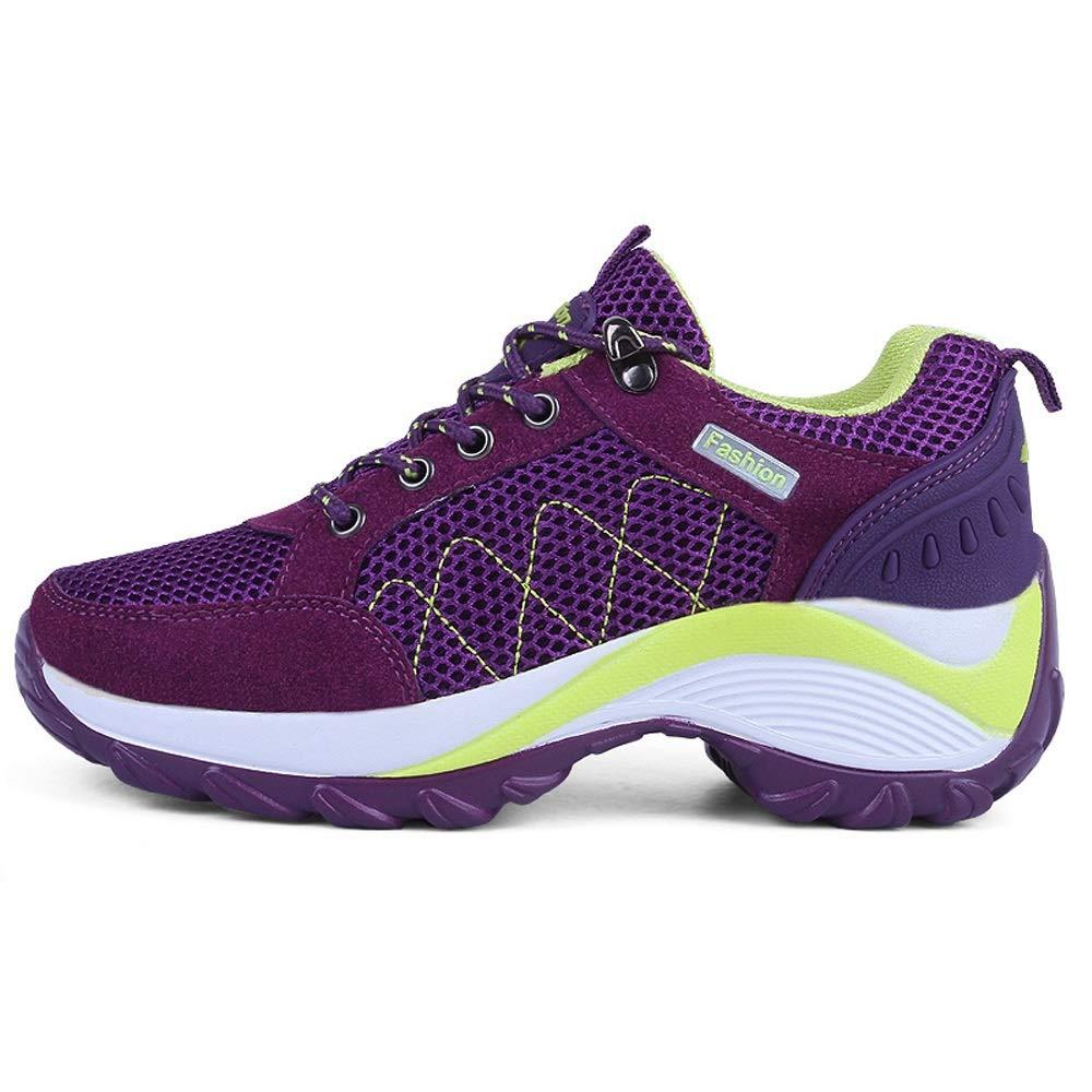 LIANGXIE Die leichten Turnschuhe der Frauen Wellen-Schuh-Damen-Ineinander erhöhen zufällige Schuhe Wellen-Schuh-Damen-Ineinander Frauen Greifen Breathable Nicht Beleg Schuhe mit Laufenden Schuhen 25ae11
