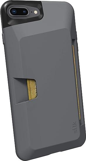 info for 403eb f59dc Silk iPhone 7 Plus /8 Plus Wallet Case - Wallet Slayer Vol.1 [Slim +  Protective + Grip] Credit Card Holder for Apple iPhone 8 Plus /7 Plus - Gun  Metal ...