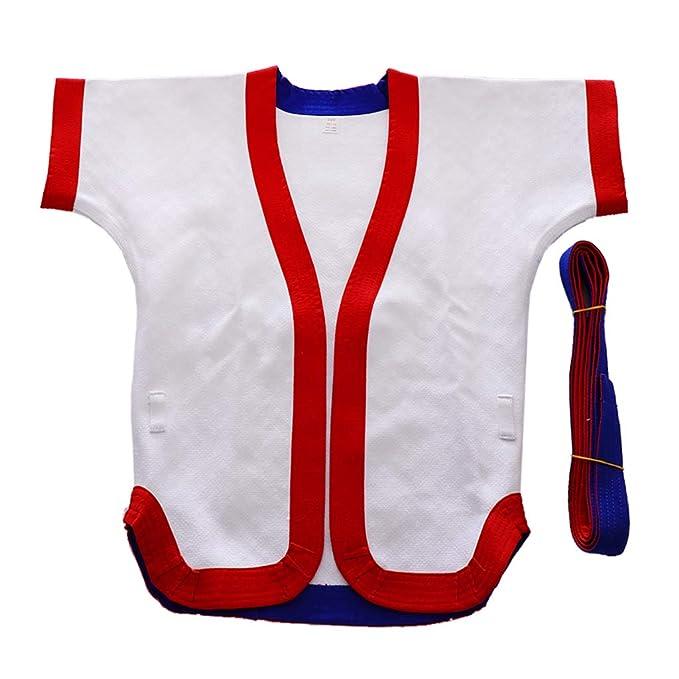 Baoblaze Traje de Chaqueta de Kárate de Algodón Transpirable Súper Suave Ropa de Taekwondo de Lucha Unisex para Niños Adulto