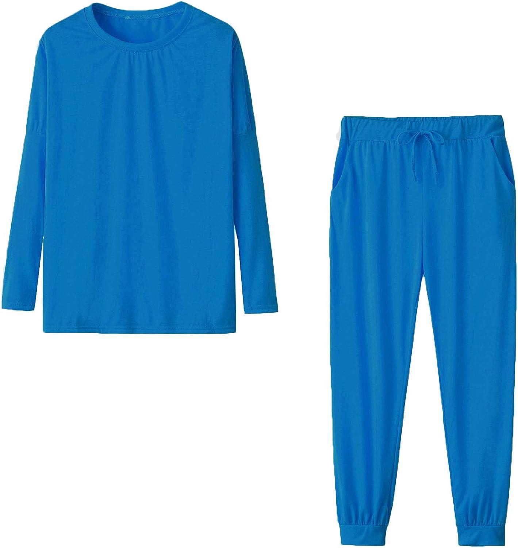 Godoboo Femmes Surv/êtement 2 pi/èces Femme Ensembles de v/êtements de Sport Pantalon de Jogging Pantalon de Sport avec Cordon de Serrage et Poches
