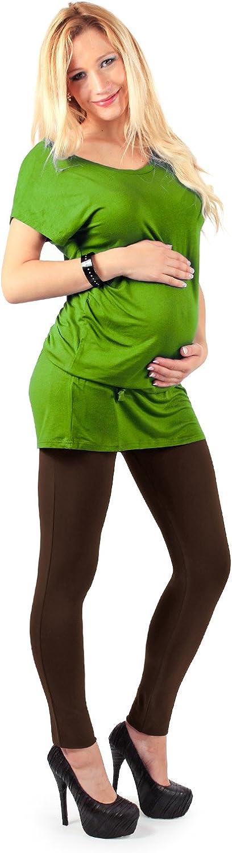 Made in Italy MAMAJEANS Leggings premam/á en algod/ón la prenda ideal para el embarazo y de calidad