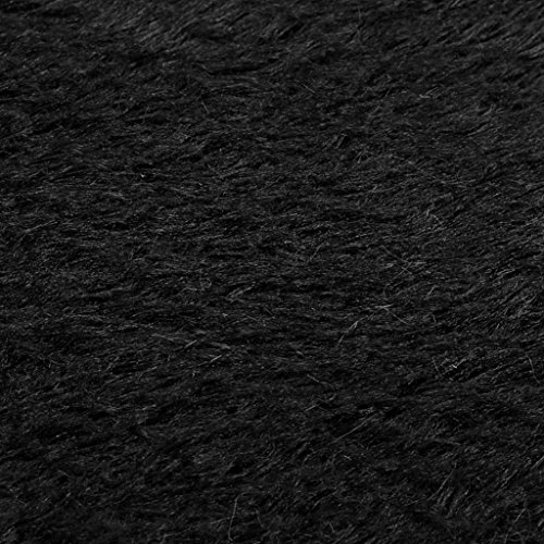 3040cm Anti-Skid Fluffy Shaggy Area Rug Home Bedroom Bathroom Floor Door Mat (Black) by Freshzone (Image #3)