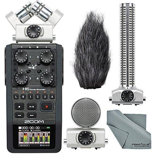(Zoom H6 Handy Portable Recorder and Zoom SGH-6 Shotgun Microphone Capsule Bundle)
