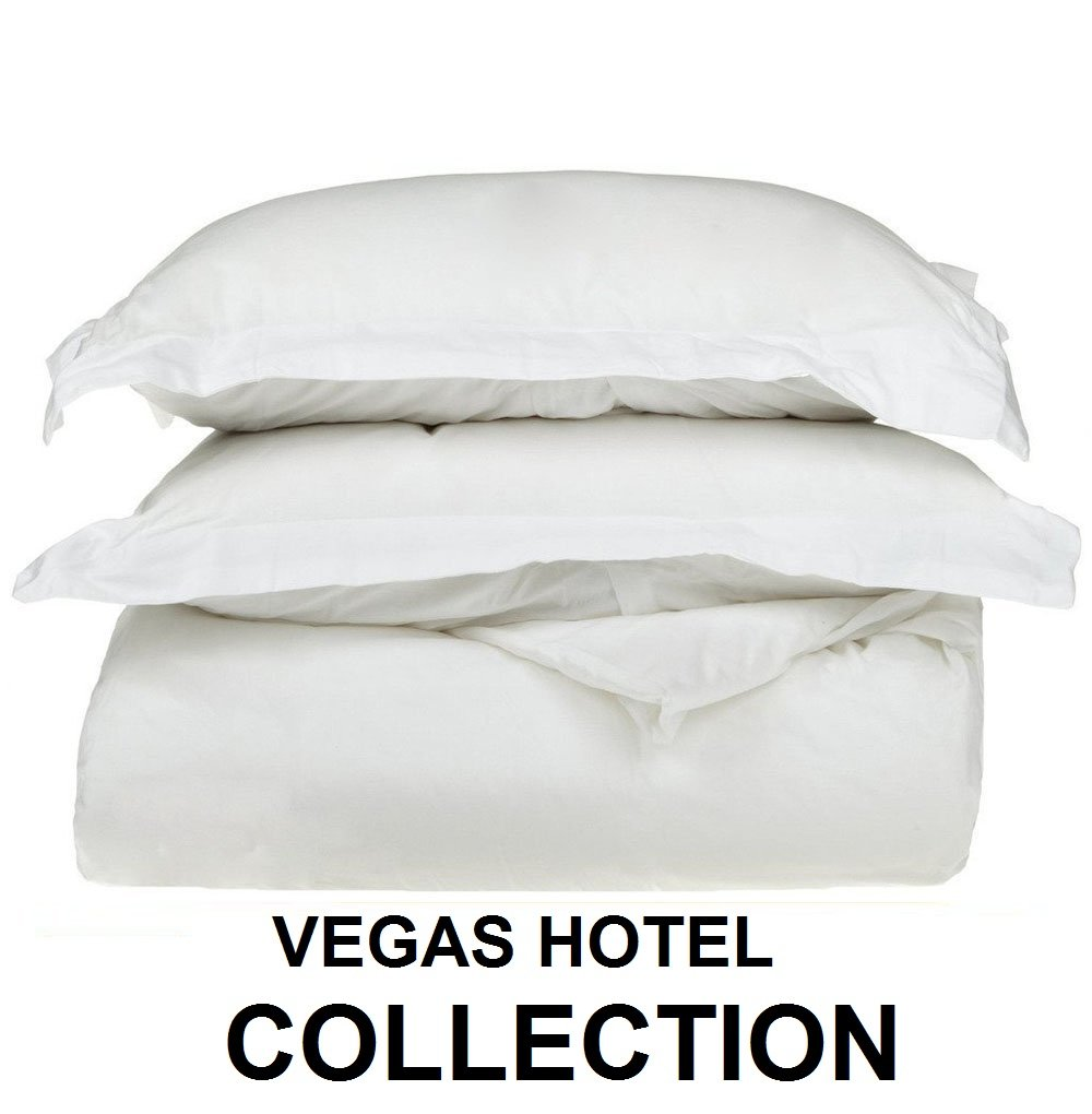VEGAS HOTEL COLLECTION 1 Piece Duvet Cover/Quilt Cover { Zippered Closure } 1000 Thread Count- Silky Soft Egyptian Cotton, Color White ( Solid ) - Queen Size