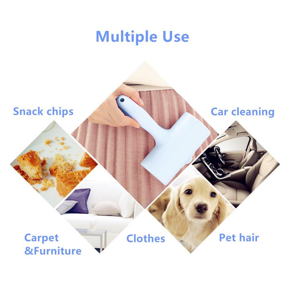 Quitapelusas [1 mango + 9 rollos] Quitapelusas ropa, Quita pelos, Elimina rápidamente el pelo de mascotas, el polvo, la suciedad, la pelusa de la ropa, ...