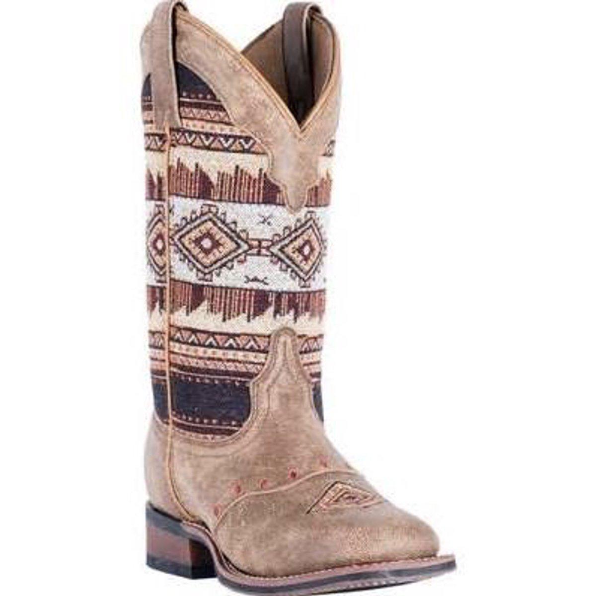 Laredo Women's Scout Tan 5638 Aztec Square Toe Boot 5638 Tan B0723BWZY3 8.5 B(M) US|Tan/Aztec 7a1f6f