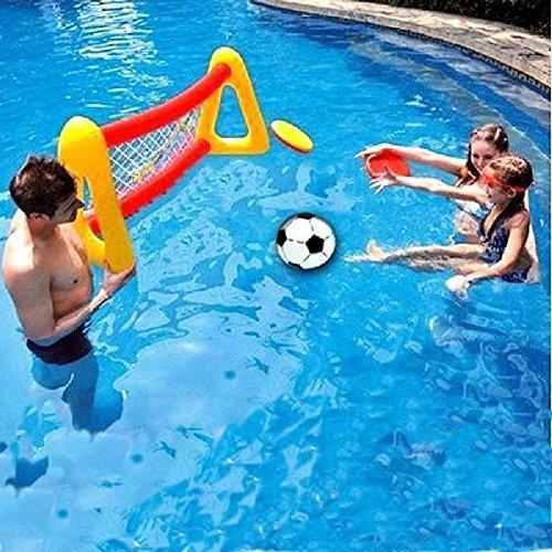 Calli agua puerta de fútbol hinchable piscina natación piscina ...