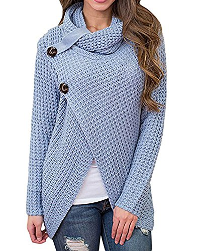Daomumen Maternity Pullovers Women's Casual Pregnant O-Neck Cotton Nursing Up Long Sleeve Knit Sweaters (Maternity Pullover)