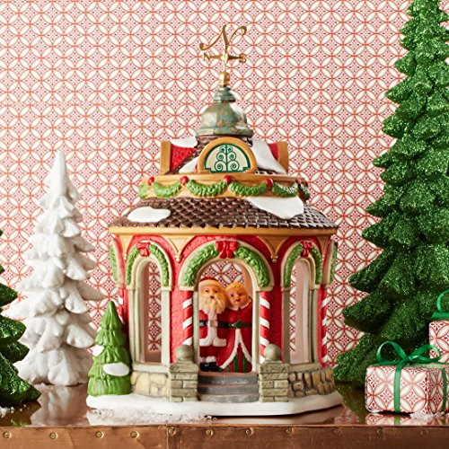 (Department 56 North Pole Village 40th Anniversary Gazebo Building 4050966 New)