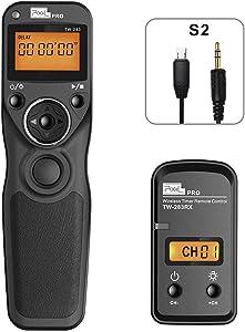Wireless Remote Shutter for Sony PIXEL TW-283 S2 Wired Timer Remote Control for Sony A99II, A77II, A58, A68, A7, A7II, A7R, A7RII, A7S, A7SII, A3000, A5100, A5000 A6000 A6300 A6500 NEX-3NL RX1RII