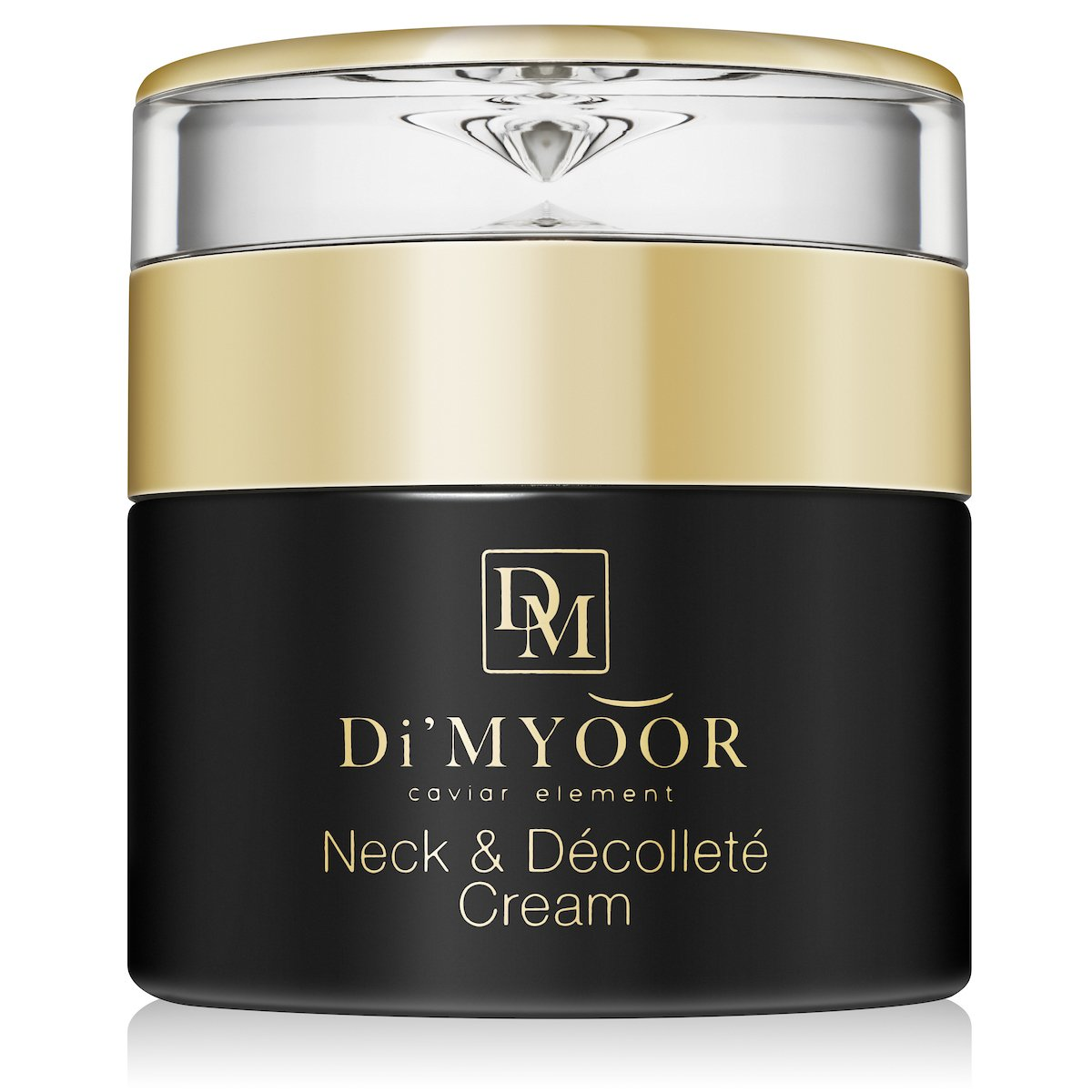 Di'myoor Neck & Dcollet Firming Cream with Caviar Element, 3-in-1: Tightens Sagging, Loose Skin, Retains Youthful Glow, Enriched with Vitamins, Green Tea, Almond Oil, Dmae, Glycolic Acid, 1.7 oz.