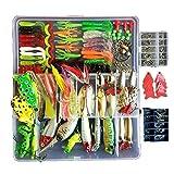 Fishing Tackle Lots Fishing Baits Kit Set with Free Tackle Box Freshwater Trout Bass Salmon 275Pcs 1Set