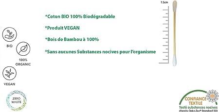 Biodegradables, veganos y sostenibles. Caja de 500 varillas de ...