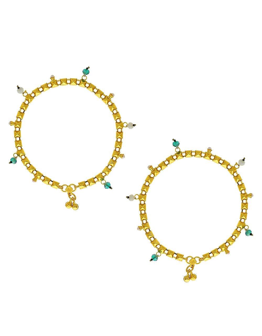 Anuradha Art Golden Colour Very Classy Designer Anklet//Payal for Women//Girls