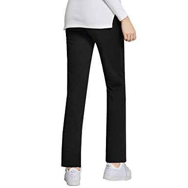 0254f145f61dd JOYNCLEON Womens Maternity Work Pants Straight Leg Pregnancy Casual Trousers  for Pregnant Women at Amazon Women's Clothing store: